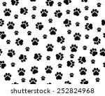 footprints of cat  seamless... | Shutterstock .eps vector #252824968