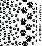 footprints of cat  seamless... | Shutterstock .eps vector #252824998