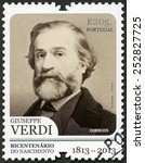 portugal   circa 2013  a stamp... | Shutterstock . vector #252827725