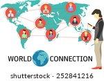 business man building his... | Shutterstock .eps vector #252841216