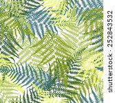 fern seamless pattern | Shutterstock .eps vector #252843532
