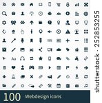 webdesign icons vector set | Shutterstock .eps vector #252853255
