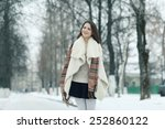 young european model in stylish ... | Shutterstock . vector #252860122