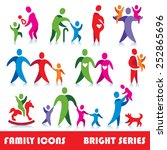 family vector icons  bright... | Shutterstock .eps vector #252865696