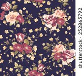 seamless floral pattern with... | Shutterstock . vector #252865792