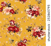 seamless floral pattern with... | Shutterstock . vector #252865795