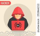computer hacker spread a net  ...
