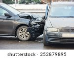 car crash accident on street ... | Shutterstock . vector #252879895