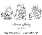 collection hand drawn of... | Shutterstock .eps vector #252885472