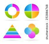 four parts diagrams | Shutterstock .eps vector #252886768
