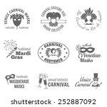carnival venetian and brazilian ... | Shutterstock .eps vector #252887092