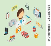 medical concept with isometric... | Shutterstock .eps vector #252887896