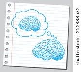 brain thinking about brain  | Shutterstock .eps vector #252888532