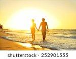 honeymoon romantic couple in... | Shutterstock . vector #252901555