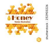 vector illustration of honeycomb | Shutterstock .eps vector #252903226