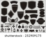 set for designing of military... | Shutterstock .eps vector #252909175