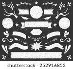 a set of chalkboard style... | Shutterstock .eps vector #252916852