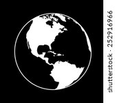 vector globe icons on a black... | Shutterstock .eps vector #252916966