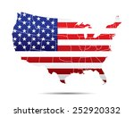 usa map with flag | Shutterstock .eps vector #252920332