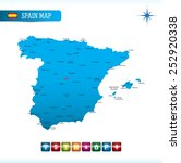 spain map | Shutterstock .eps vector #252920338