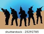 arms  soldier  guns  vector ...   Shutterstock .eps vector #25292785