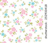 floral pattern with pink and... | Shutterstock .eps vector #252933418