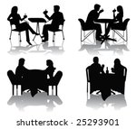 people silhouettes | Shutterstock .eps vector #25293901
