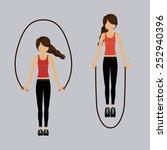 fitness design over gray