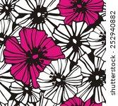 seamless floral pattern | Shutterstock .eps vector #252940882