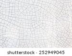 cracked texture of old ceramic... | Shutterstock . vector #252949045