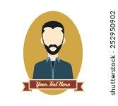 retro guy   hipster man cartoon | Shutterstock .eps vector #252950902
