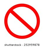 red not allowed sign in white... | Shutterstock . vector #252959878