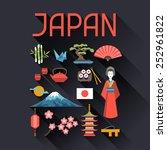 Japan Icons And Symbols Set....