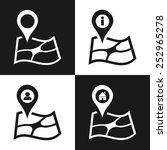 set of map pointer flat icon.... | Shutterstock .eps vector #252965278