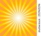 orange and yellow shiny... | Shutterstock .eps vector #252965296