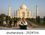 taj mahal namaste | Shutterstock . vector #2529714
