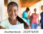 close up portrait of african... | Shutterstock . vector #252976555