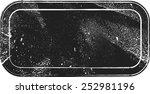 grunge vector rectangle stamp... | Shutterstock .eps vector #252981196