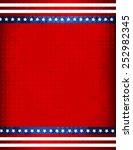 stars and stripes grunge... | Shutterstock .eps vector #252982345