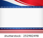 american   usa patriotic frame... | Shutterstock .eps vector #252982498
