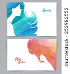 vector illustration of woman... | Shutterstock .eps vector #252982552