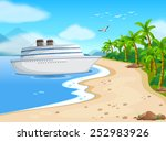 illustration of a cruise... | Shutterstock .eps vector #252983926