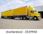 yellow b double truck