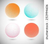 set of halftone vector... | Shutterstock .eps vector #252994606