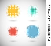 set of halftone vector... | Shutterstock .eps vector #252994672