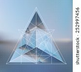 Abstract Isometric Pyramid Wit...