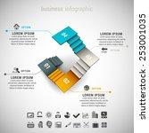 vector illustration of business ... | Shutterstock .eps vector #253001035