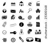 black web icons | Shutterstock .eps vector #25300168