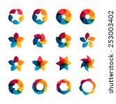 logo templates set. abstract... | Shutterstock .eps vector #253003402