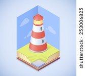 vector lighthouse    Shutterstock .eps vector #253006825